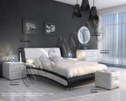 Кровать двуспальная Помпиду экокожа