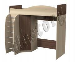 Кровать чердак с рабочей зоной Алешка (ясень/ясень Шимо)
