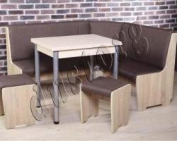 Кухонная скамья Дуста (можно укомплектовать табуретами)