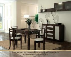 Стол и стулья для кухни №7 массив сосны
