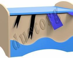 Детская мебель для мальчика Юнга Тумба (рундук)