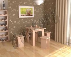 Стол и стулья для кухни Вэлком МИНИ