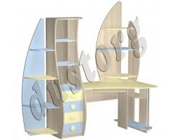 Детская мебель для мальчика Юнга Компьютерный стол (угловой) МДФ