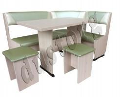 Кухонный Уголок Горизонт-2 со столом Горизонт и табуретами