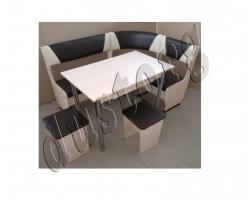Кухонный уголок Горизонт-2 и стол Горизонт-3 с ящиком