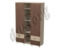 Детская мебель Алёшка Шкаф для одежды и белья 2-створчатый с открытыми полками 1400*470