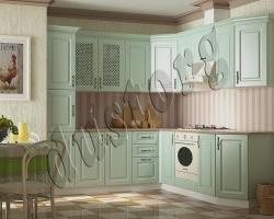 Модульная кухня Кантри (эмаль) зеленная
