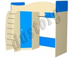 Детская мебель Алешка со столом (полка в комплекте) синий