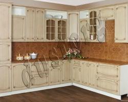 Кухонный шкаф Пенал Дуб беленый с патиной Орех