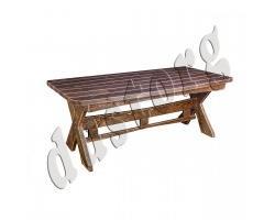 Стол с подножкой из массива сосны