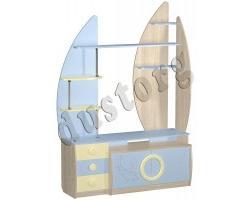 Детская мебель для мальчика Юнга Стеллаж МДФ