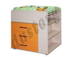 Детская мебель Скейт-3 Комод пеленальный манго