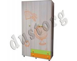 Детская мебель Почемучка Шкаф для одежды и белья трёхстворчатый с ящиками