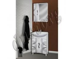 Комплект мебели в ванную Кензо 550(4) с патиной серебро