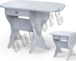 Кухонный стол СКР-1 с ящиком (столешница термопластик)