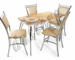 Стол и стулья для кухни Лилия