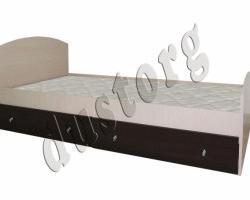 Кровать односпальная с двумя ящиками
