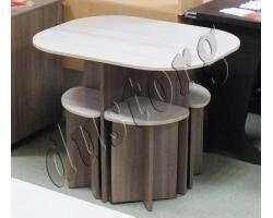 Стол и стулья для кухни Милена (Олимп)