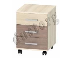 Детская мебель Алёшка Тумба выкатная 3 ящика Шимо