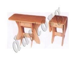Кухонный стол СКР-2 с ящиком (столешница термопластик)